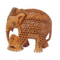 wood elephant lion