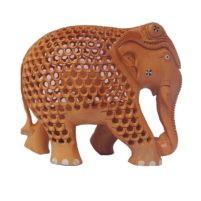 wood elephant statues