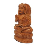 Hand carved wood buddha