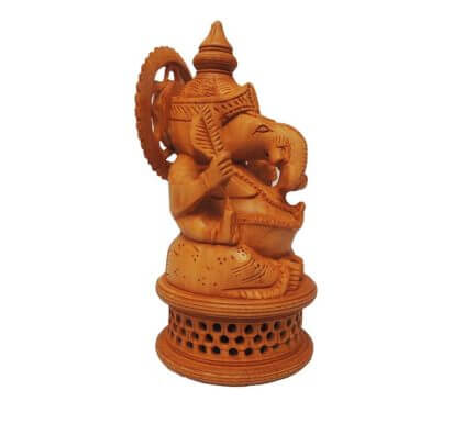 wooden ganesha idol
