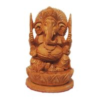 wood ganesha idol home