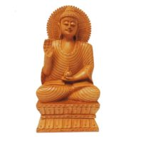 wooden lord buddha statue India