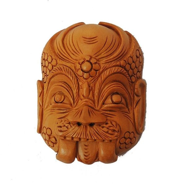 Hand Carved Wooden Face