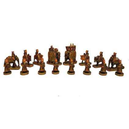 wooden painted chess sets
