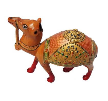 hand painted wooden camel