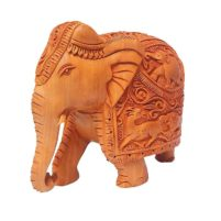 Hand Carved Wooden Elephant an exclusive item for gift