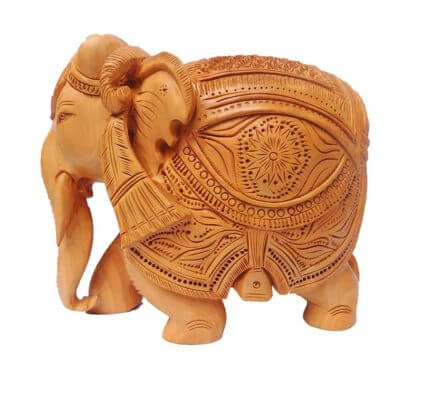 Amazing Hand Crafted Indian Royal Wooden Elephant Carving