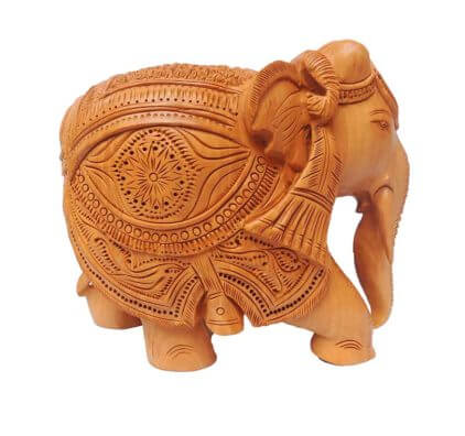 Hand Crafted wooden elephant