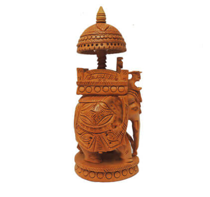 Wood Crafted Hoda Ambabari Elephant