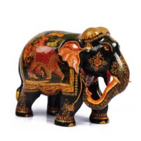 woode shikar painted elephant