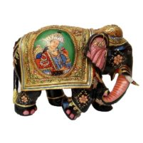 wooden gold plated elephant