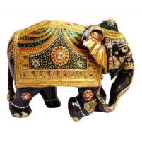 hand painted trunk down elephant
