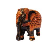 wood jalee elephant with antque finesh