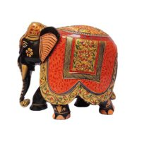 rajasthani hand painted wood elephant