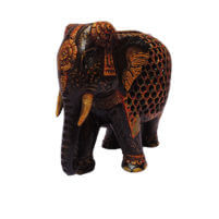 Jalee work antque painted wood elephant