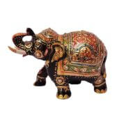 good luck painted wood elephant