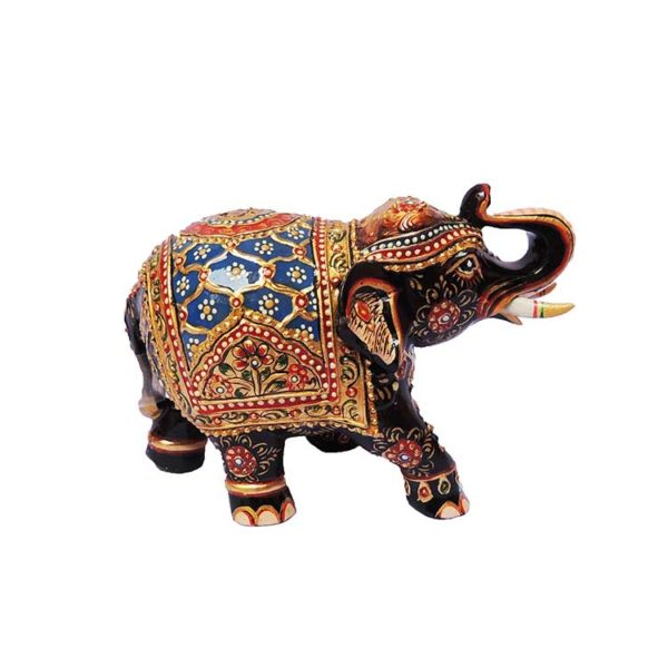 wooden painted elephant for gifts