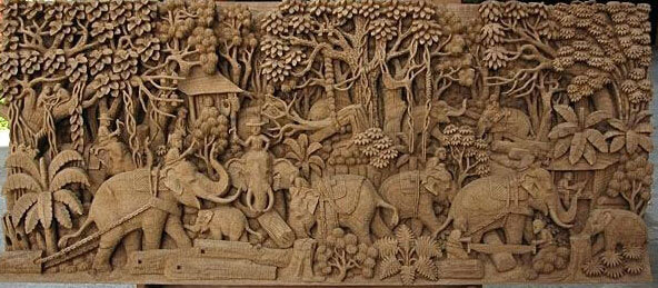 wooden carved handicrafts gifts