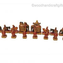 elephant theme chess sets red
