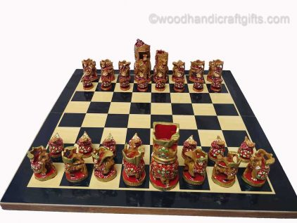 chess king and queen on board