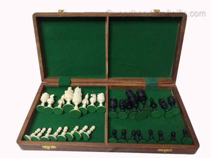 chess set bone in case