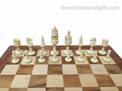 chess set bone white