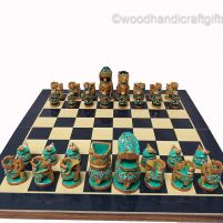 Indian chess pieces side