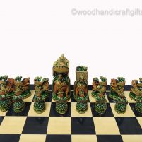wooden chess set painted