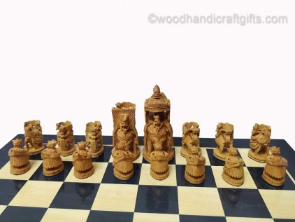 wooden chess set white